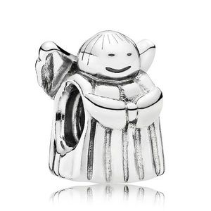 Pandora Angel Hope sterling silver retired charm